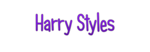 Harry Styles Text PNG