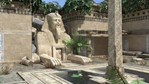 3D render of a tomb exterior