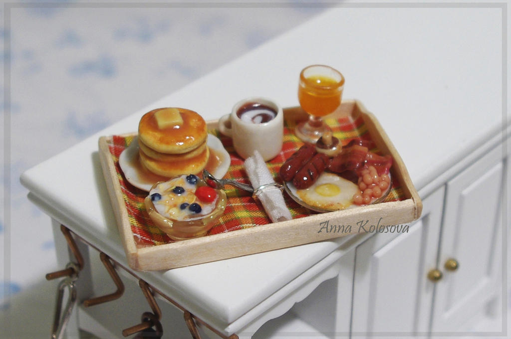 miniature breakfast))) by PodrugaSamodelkina