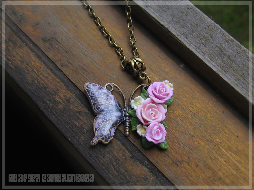butterfly(polymer clay) by PodrugaSamodelkina