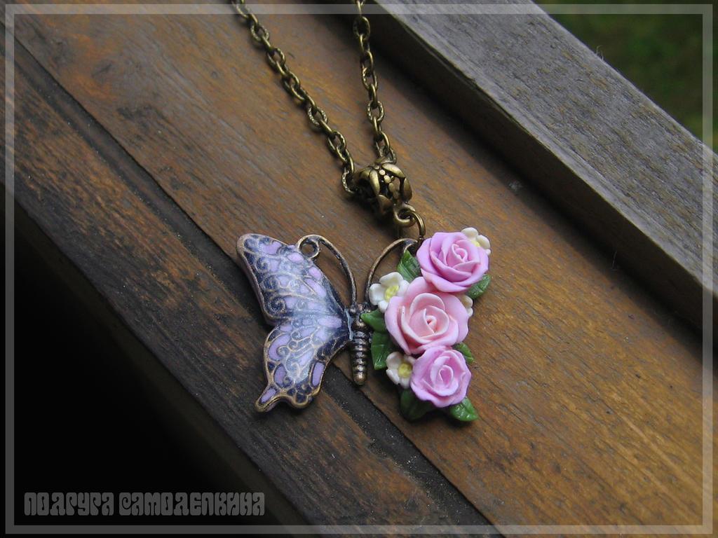 butterfly(polymer clay) by PodrugaSamodelkina