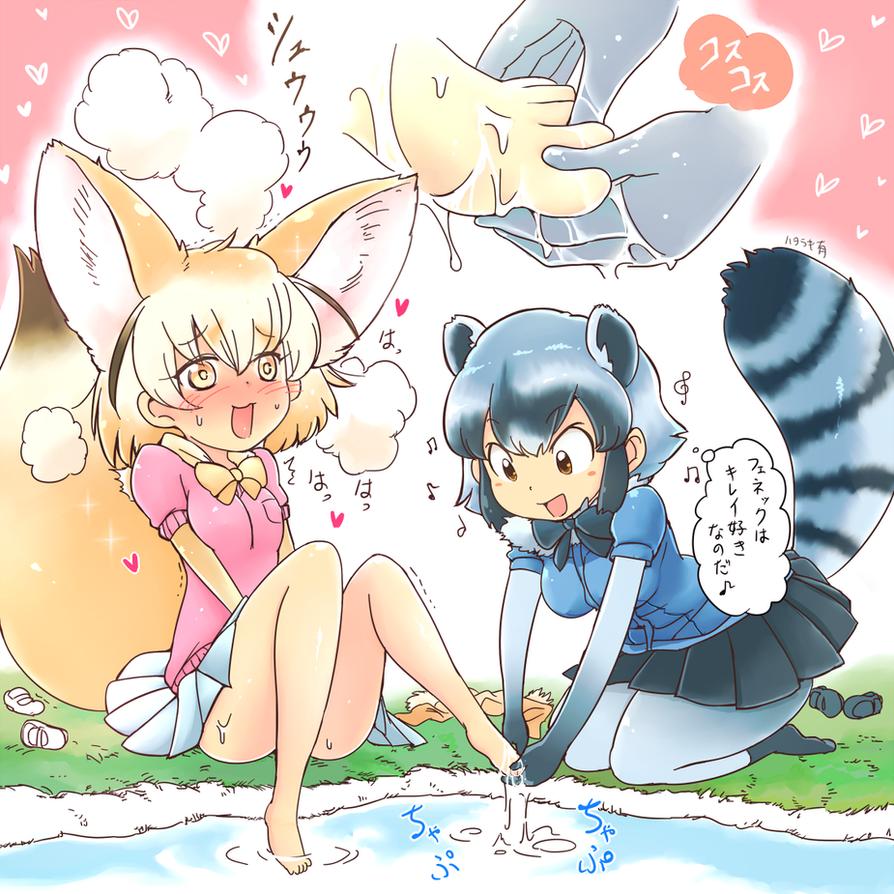 kemonofriends'Arai-and-Fennec' by hataraki-ari
