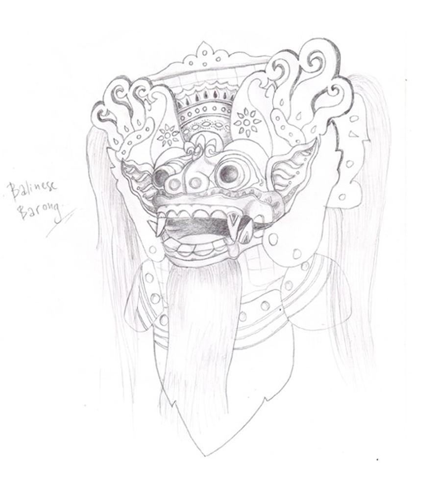 Balinese Barong Sketch