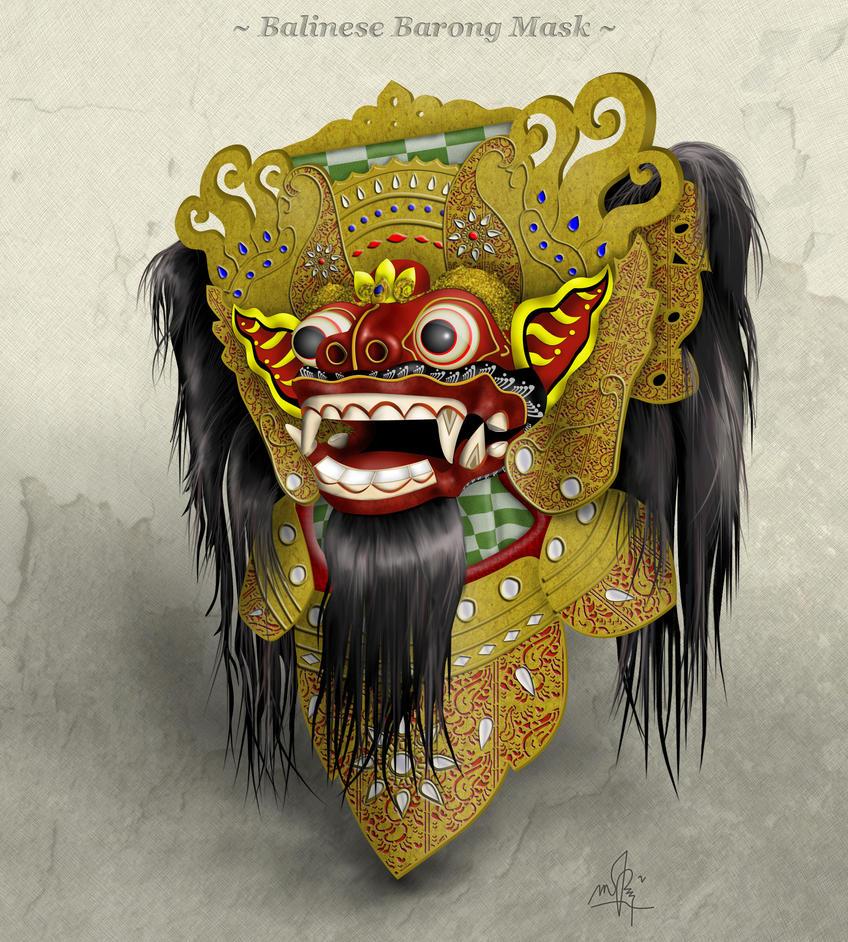 Balinese Barong Mask by faqeeh