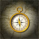 Compass on Map by faqeeh