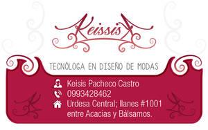 Business card design for dressmaker