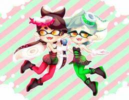Squid Sisters by sekuharapiercings