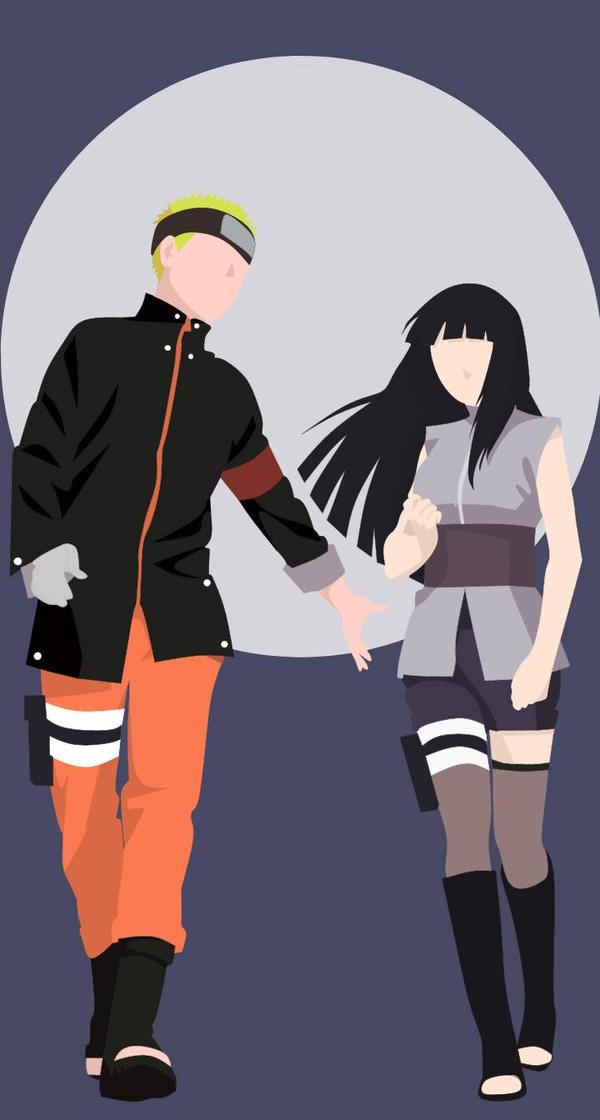 Naruto Hinata Minimalist Wallpaper By Mattprz On Deviantart