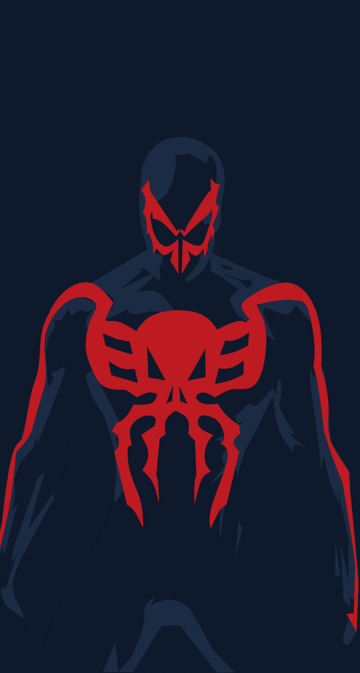 Spider Man 2099 Minimalist Mobile Wallpaper By Mattprz On Deviantart