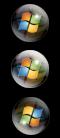 Transparent Vista Start Orb R2 by JoMoMoFo