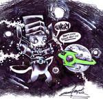 Daily sketch: Galactus and Mogo