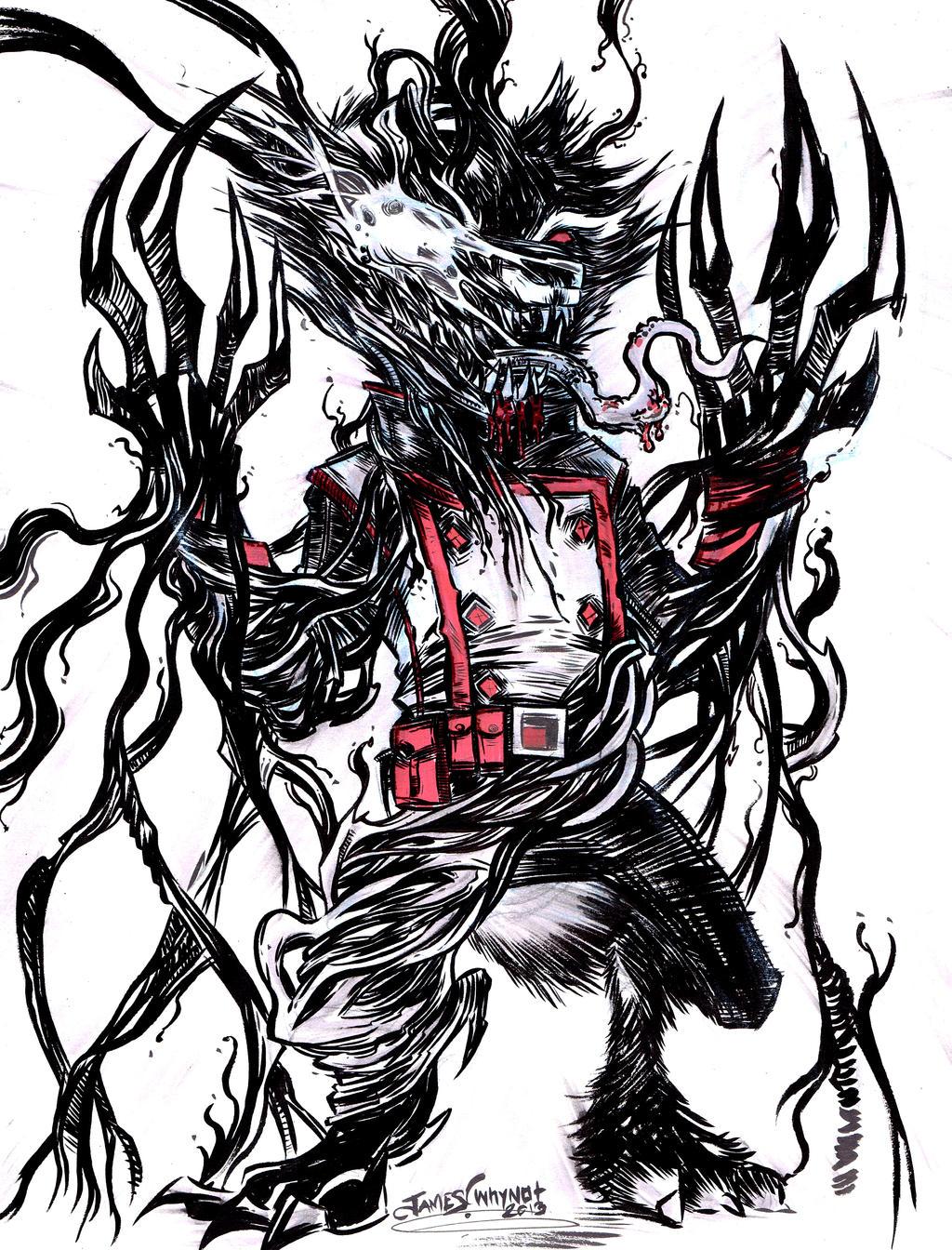 Rocket Raccoon/ Venom by JamesWhynotInks