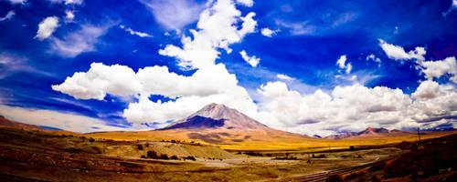 Sky to hill by onirem
