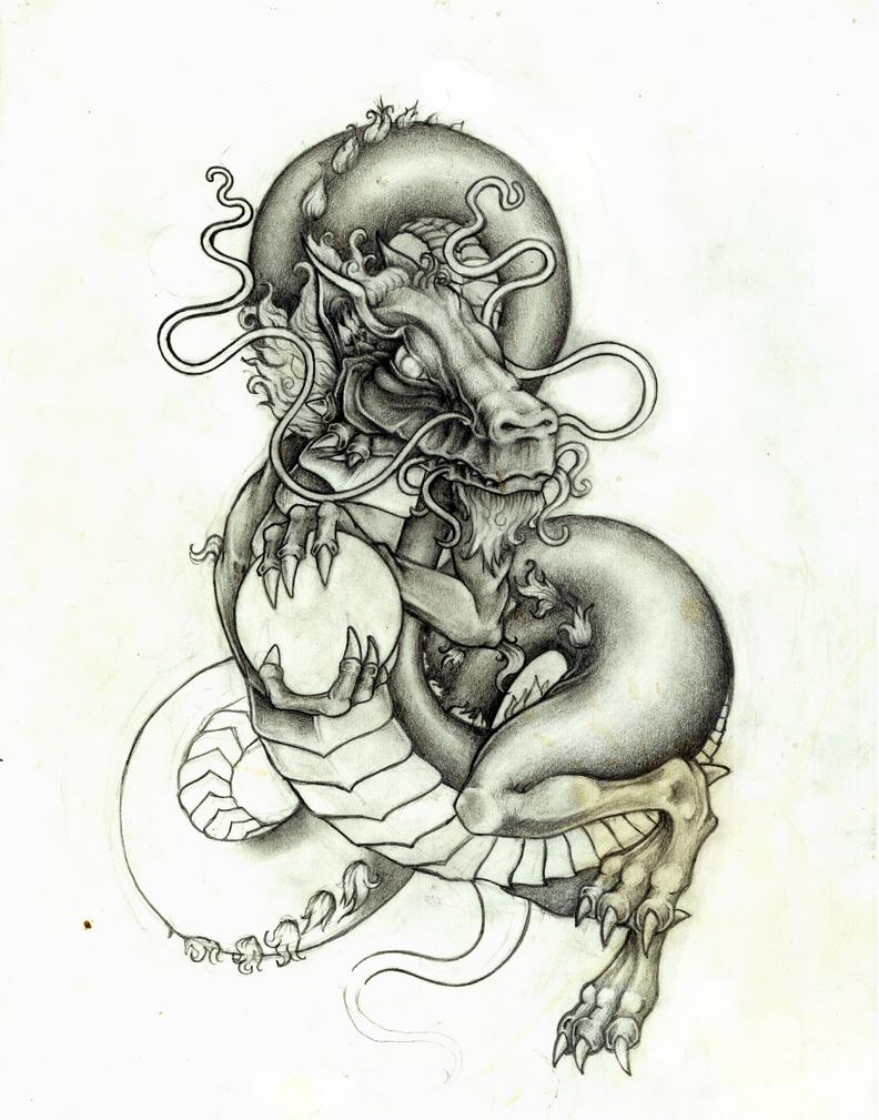 dragon tattoo design by a p t on deviantart. Black Bedroom Furniture Sets. Home Design Ideas