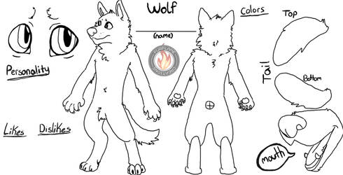 Wolf Ref Blank Free To Use