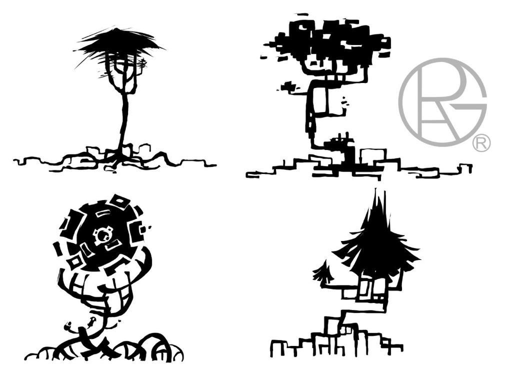 weird trees by Py-Bun