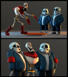 *WHERE ARE THESE SANS COMING FROM!?!? by Py-Bun