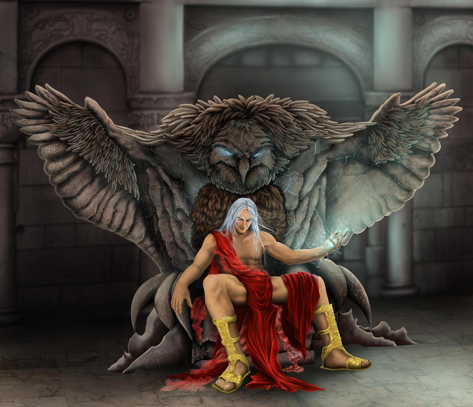 ZEUS by Hellkrusher on... Zeus Digital Painting