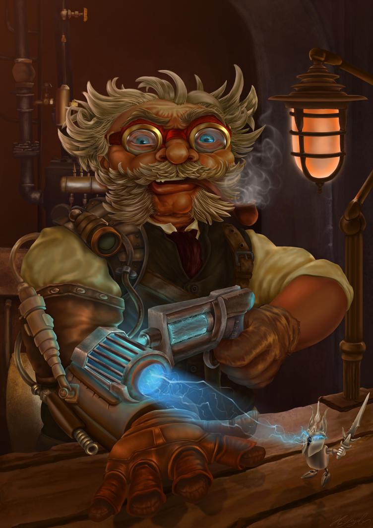 Gnome with Shocker Gun by Hellkrusher