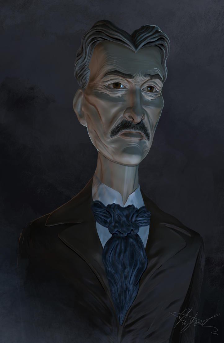 Nikola Tesla by Hellkrusher