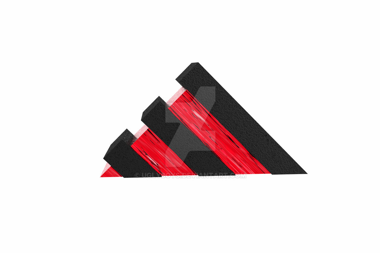 Adidas logo 3d red by uglyboys on DeviantArt