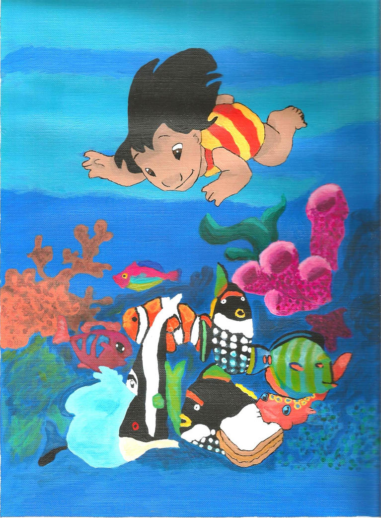 Lilo and pudge coloring book contest by sakuras light on for Pudge the fish