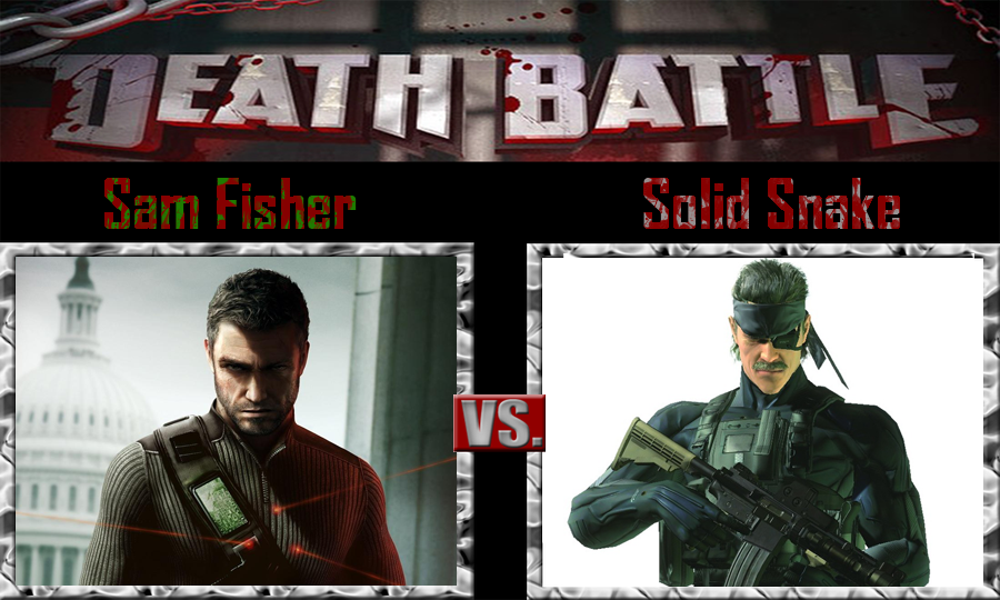 Sam Fisher vs Solid Snake by SonicPal