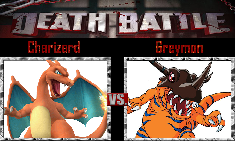 Charizard vs Greymon by SonicPal