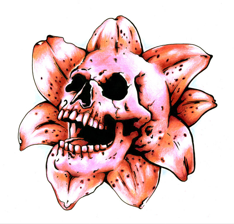 Death Lily - flower tattoo