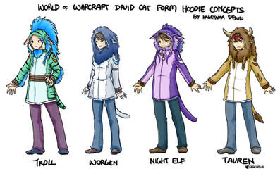 World of Warcraft Druid Cat Form Hoodie Concepts