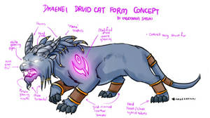 WoW Draenei Druid Cat Form Concept