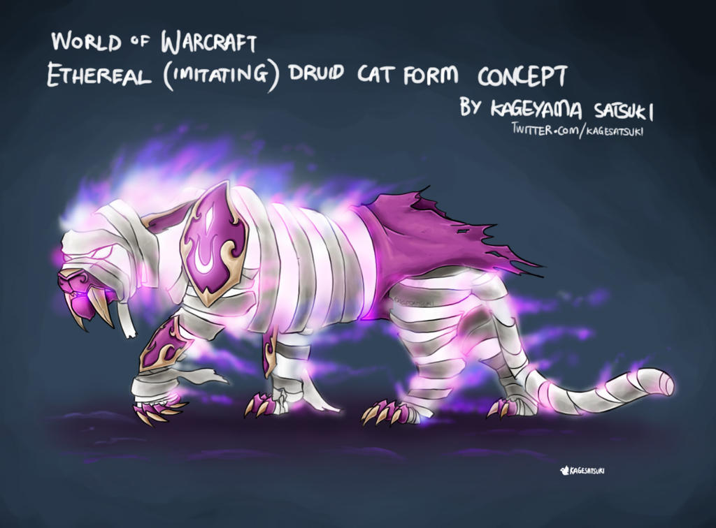 WoW Etheral Druid Cat Form Concept by kagesatsuki on DeviantArt