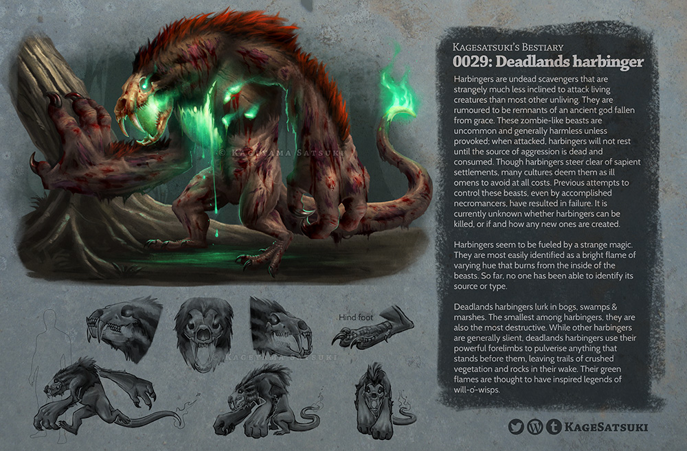 Bestiary 0029 deadlands harbinger by kagesatsuki