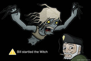 L4D: Bill Startled The Witch by wibblethefish