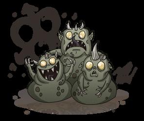 40k: Nurglings by wibblethefish