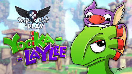 Yooka-Laylee Title Card by wibblethefish