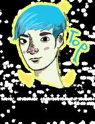 Top From Bigbang blue hair by bleachmanx