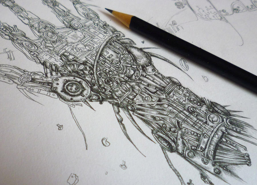 Mechanical hand art - photo#6