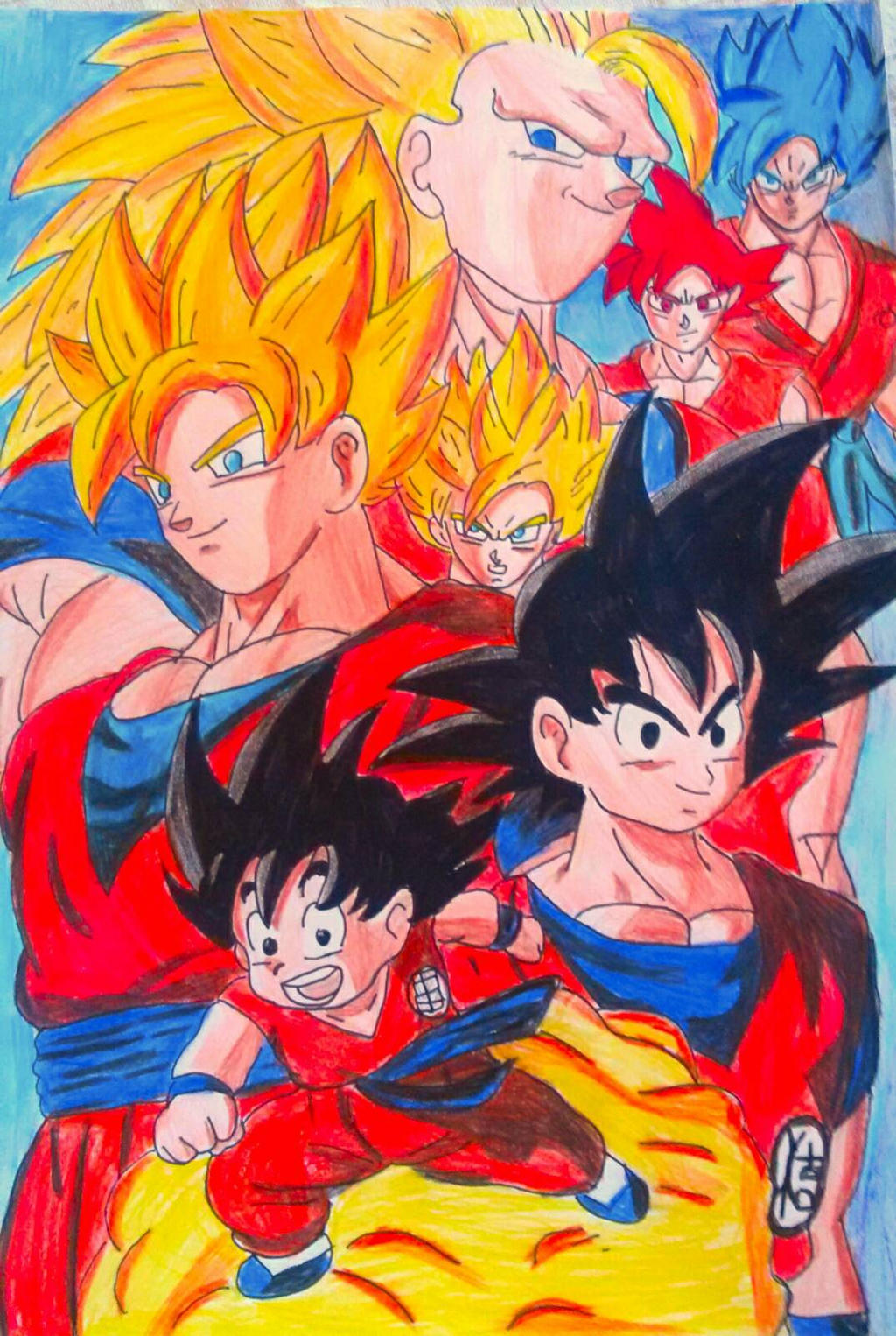 Goku Dragon ball,z,Super by Art Demy by Demy111
