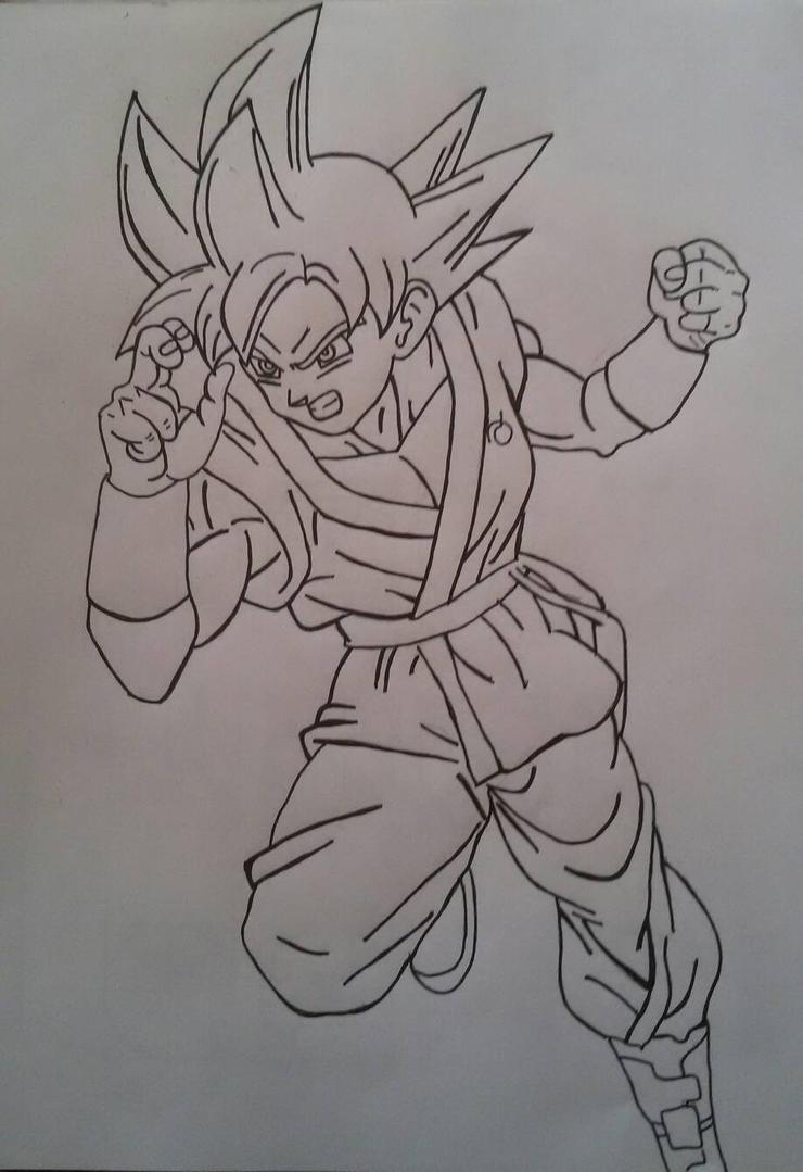 Goku super saiyan God By Demy by Demy111