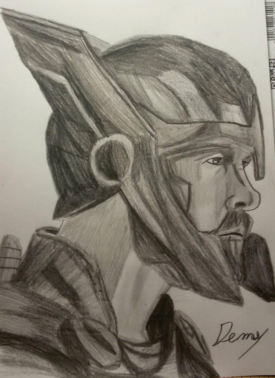 Drawing Thor From Ragnarok by Demy111