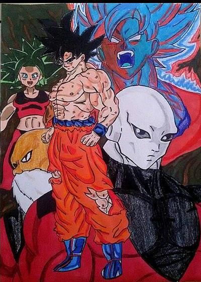 Goku   Jiren   Kefla   Toppo   Goku SB KAIOKHEN by Demy111