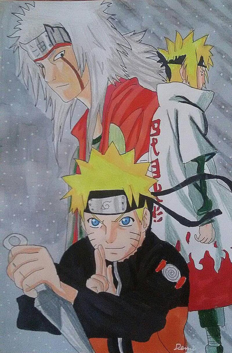 Naruto / Minato / Jiraya/  Shippuden By Demy by Demy111