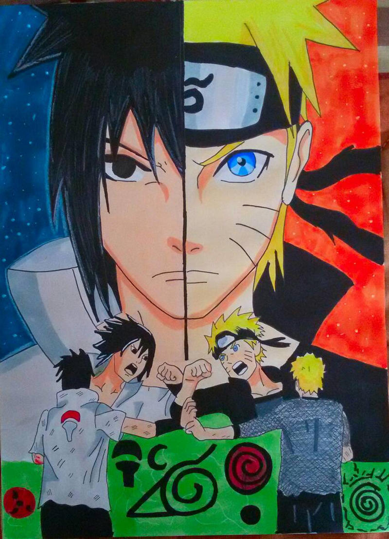 Naruto / Sasuke battle of Shippuden By Demy by Demy111