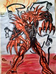 Carnage Spider man Venom fusion by Demy111