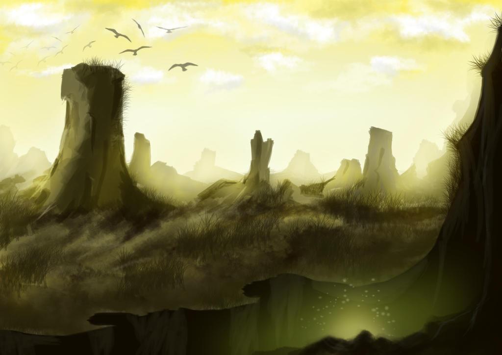 Hills Landscape by Artanti-Kusuma-Ayu