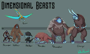 Strange Aeons Bestiary - Dimensional Beasts
