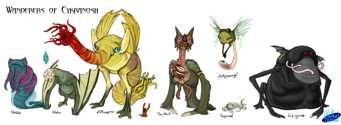 Wanderers of Cykranosh - Tsathoggua's Family