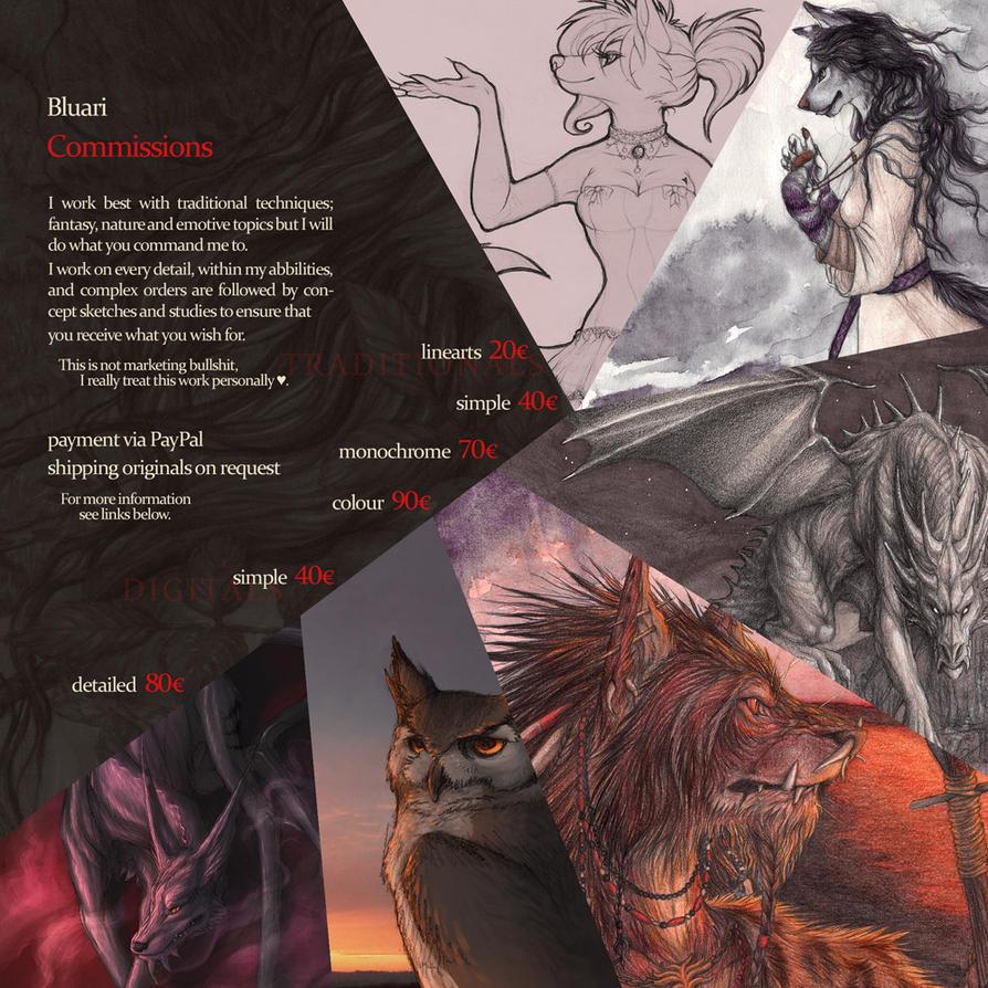 pricelist by Bluari
