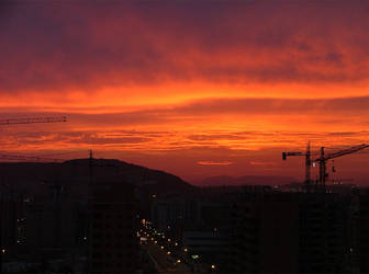 Alicante sunset later by tomcrocker
